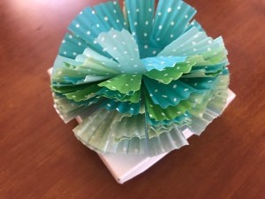 Present Topper with Cupcake Liner