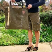 How to Turn Pants Into Shorts and a Bag  - tote bag and shorts
