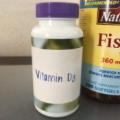 Re-label Vitamin Containers - newly labeled bottle