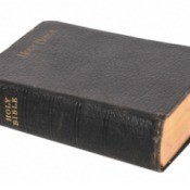 Old Bible on a white background