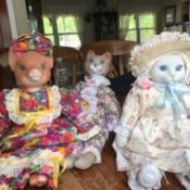 Value of Betty Carter Dolls - three animal dolls