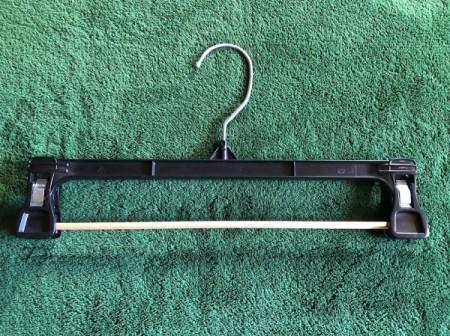DIY Necktie Hanger - insert one rod in the clips