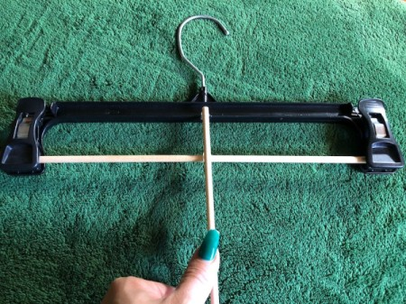 DIY Necktie Hanger - glue another rod perpendicular to first in the center