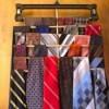 DIY Necktie Hanger - hanger filled with ties