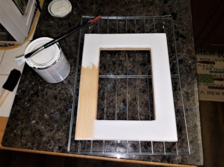 New Baby Frame - paint the frame, 2 coats, prime if desired