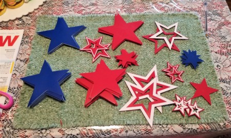 Summer Door Decor - stars cut out