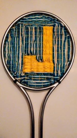 Tennis Racket Weaving  - finished woven J