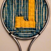 Tennis Racket Weaving  - finished woven J