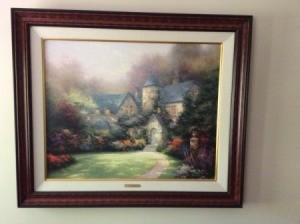 Value of a Thomas Kincaid Painting - manor house