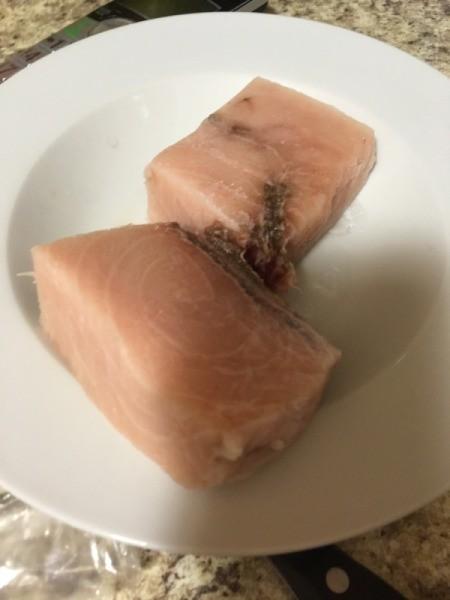 Swordfish on plate