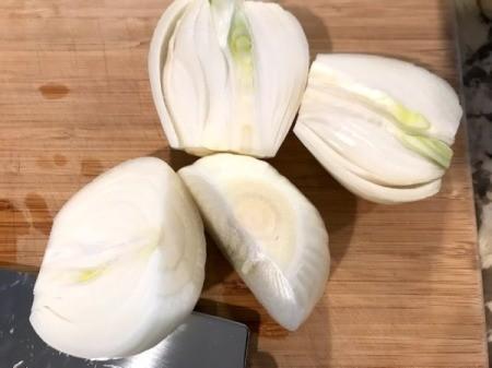 onions cut in half