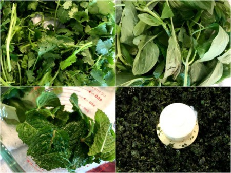 food processing herbs