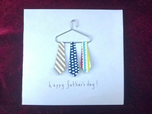 Dad's Neckties Card - finished card