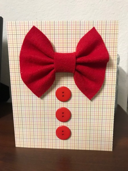 Father's Day Bow Tie Card - finished card