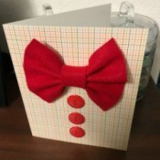 Father's Day Bow Tie Card