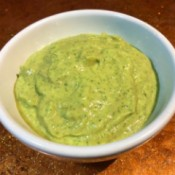 Avocado Yogurt Dressing in bowl