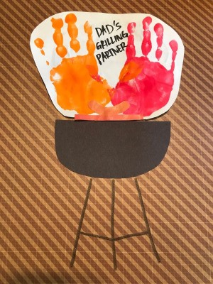 Father's Day Handprint Keepsake Card - finished card
