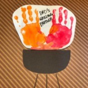 Father's Day Handprint Keepsake Card - finished card