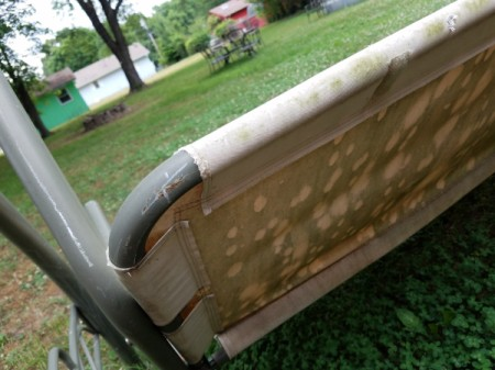 Replacing the Fabric Seat on an Outdoor Porch Swing