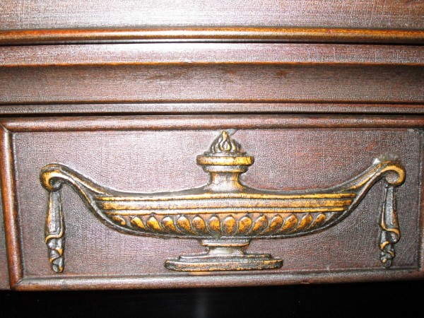 Can anyone help to appraise this antique china cabinet or at least tell me  what the symbol is on the cabinet? - Value Of An Antique China Cabinet ThriftyFun