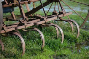 Old rusty agricultural Equipment.