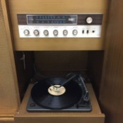 Value of a Console Record Player  - controls and turntable