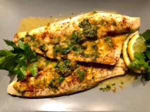 Sea Bass with Lemon Caper Sauce