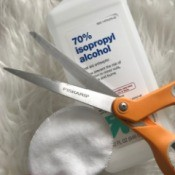 Isopropyl alcohol and a pair of scissors.