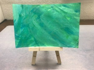 Abstract Acrylic Painting - painting on an easel
