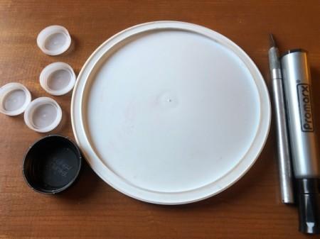 Homemade Paint Palette - supplies