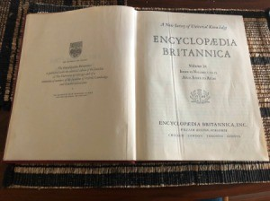 Value of 1961 Encyclopaedia Britannica - cover page