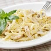 Grilled Chicken on pasta