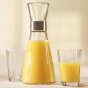 Orange juice in a carafe.