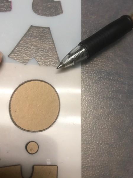 DIY Scratcher Cards - circle stencil