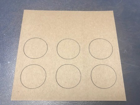 DIY Scratcher Cards - trace circles onto a piece of paper