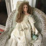 Identifying a Porcelain Doll - doll wearing a long white dress
