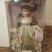 Value of a Collectible Memories Catherine Porcelain Doll  - doll in box