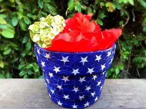 Napkin Decoupaged Flower Pot - flowers in pot