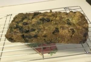 Blueberry Zucchini Bread on rack