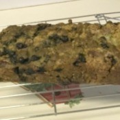 Blueberry Zucchini Bread on rack