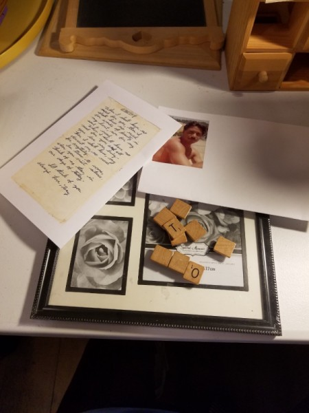 Photo, Poem, and Scrabble Frame - supplies