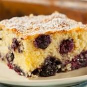 Slice of Blueberry Cake.