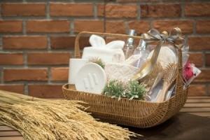 Spa themed gift basket