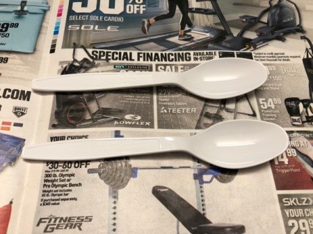Butterfly Spoons - stick down to the work surface