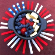 American Flag Clothespin Platter - finished plater
