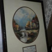 Value of a Thomas Kinkade Mountain Chapel Painting