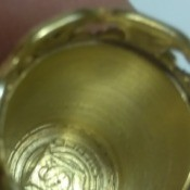 Determining the Date on a Simons Thimble - inside of the thimble