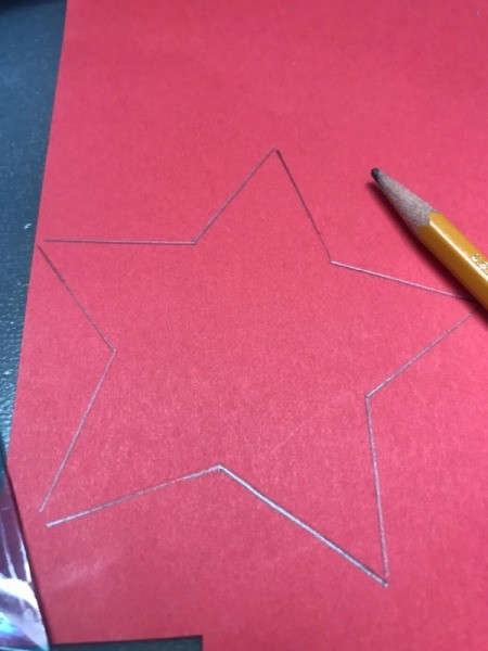 Star Straw - draw a straw on colored paper