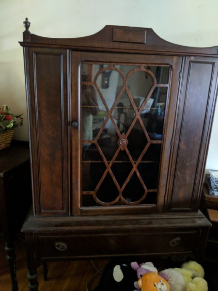Value of a Vintage Dining Room Set - china cabinet
