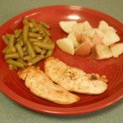 Grilled Chicken on dinner plate